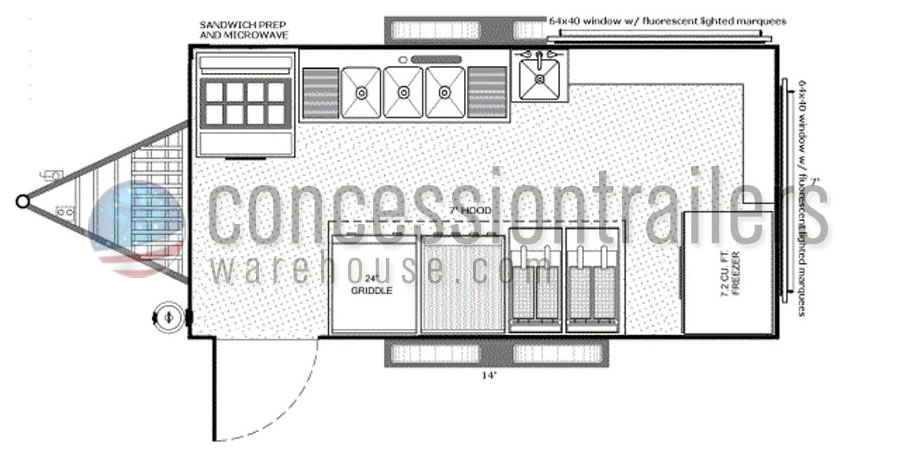 Concession Trailers Floor Plans Shop Custom Food Trucks