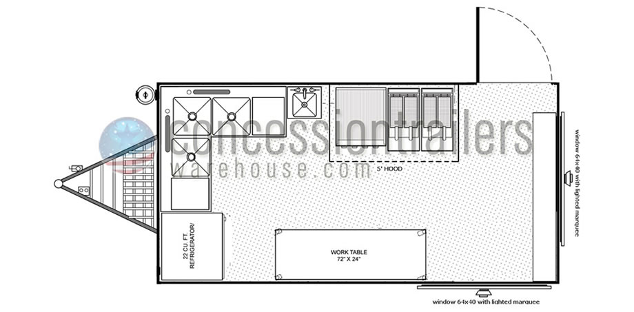 Index Of Images Gallery Floor Plans Concession Trailers 8x16