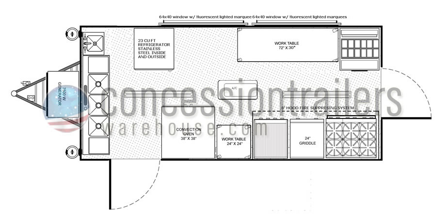 concession trailers floor plans shop mobile food trailers for rh mobilefoodtrailersforsale com