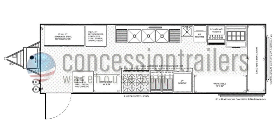 28 food concession trailer floor plan floorplans for Food truck design plan